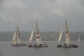 Boats from the Clipper Around The World ace.