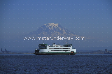 Ferry with Mt. Rainier in the background