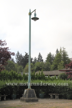 Light Pole Park in Gig Harbor, WA has the last street light from Galloping Gertie.