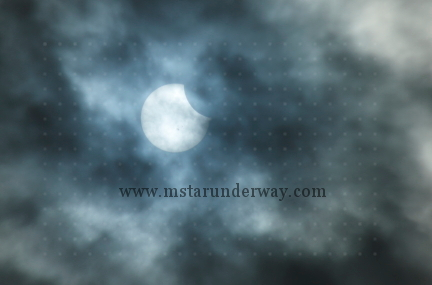 Solar eclipse on October 23, 2014 at about 2 PM.