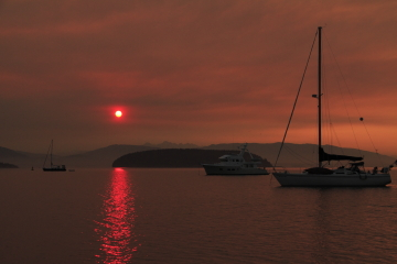 Wild fires last summer made for some interesting sunsets.