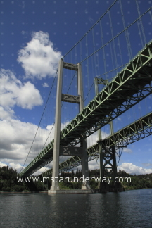 The second and third Tacoma Narrows Bridges in Washington state.