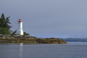 The Dryad Point Lighthouse on Campbell Island, British Columbia, Canada