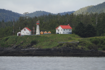 The Scarlett Point Lighthouse on Balakava Island, British Columbia, Canada