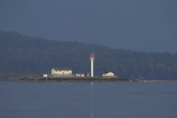 The Smith Island Lighthouse at Smith Island, British Columbia, Canada