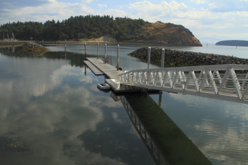 The Anacortes small boat dock.